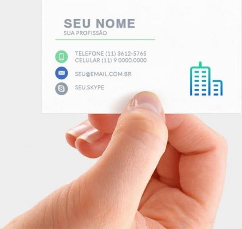 Cartões de Visita Odontologia Vila Mariana - Cartão de Visita Fosco