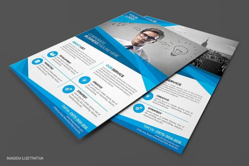 Panfleto para Hamburgueria Valor Vila Andrade - Panfleto para Restaurante